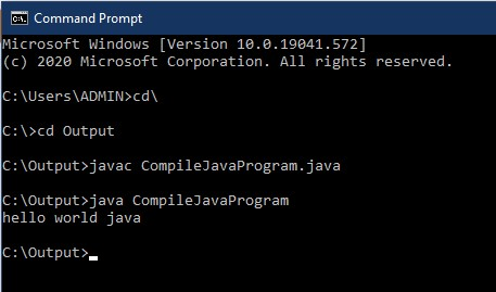 how to compile java programs