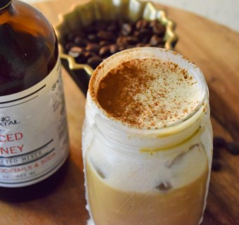 Spilling the beans on how to make a fancy spiced honey latte with cinnamon cream