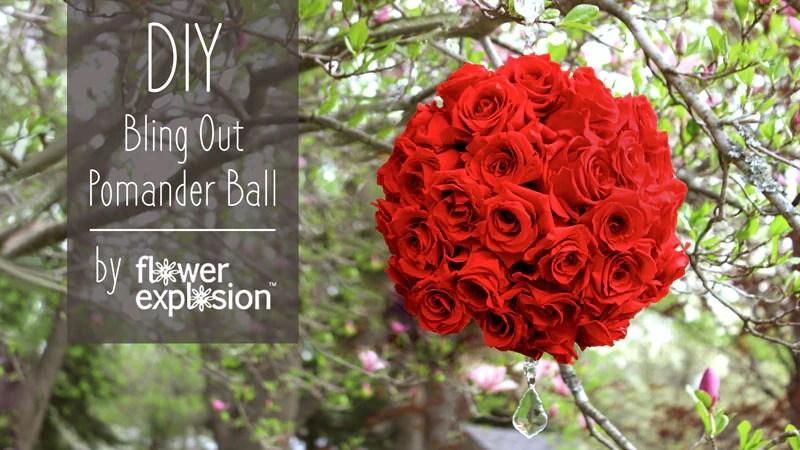 DIY rose pomander ball