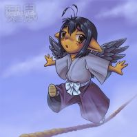 An old chibi of Rava with wings.