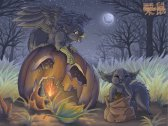 Old Halloween painting.