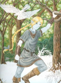 Very old (never finished) coloured pencil piece of Fianue.