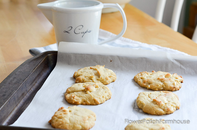 Almond White Chocolate chip cookies