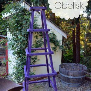 Easy DIY Garden Obelisk, FlowerPatchFarmhouse.com