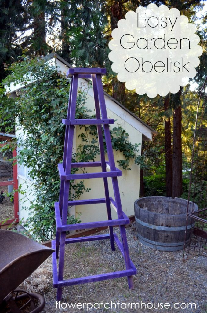 Easy DIY Garden Obelisk, www.flowerpatchfarmhouse.com