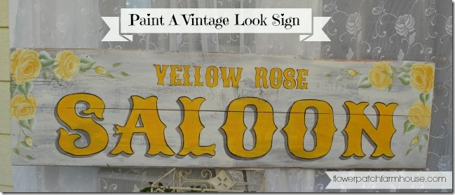 DIY Yellow Rose vintage saloon sign
