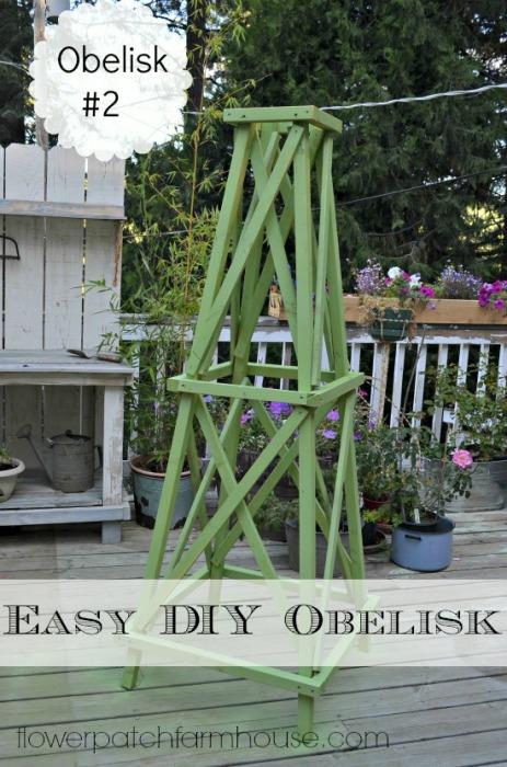 A Simple DIY Garden Obelisk, Build For Under $25, FlowerPatchFarmhouse.com