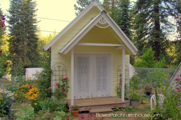 DIY Studio Garden Cottage studio, FlowerPatchFarmhouse.com