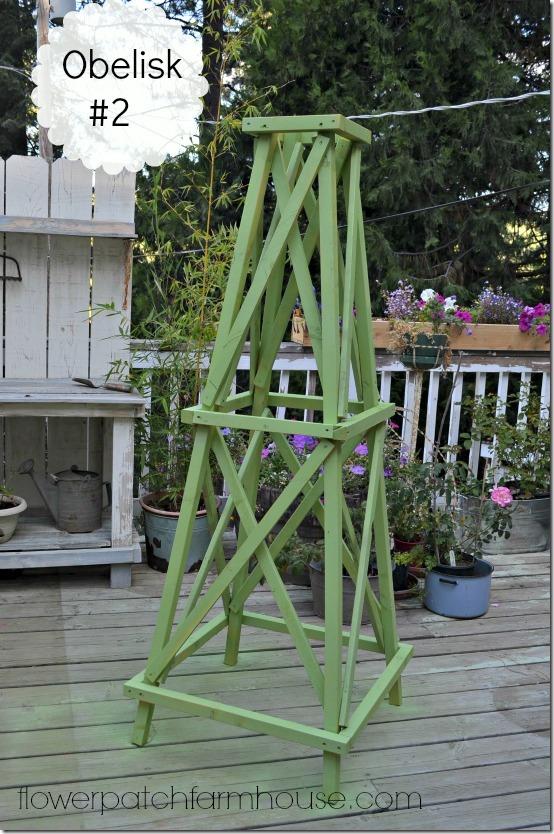 green garden obelisk