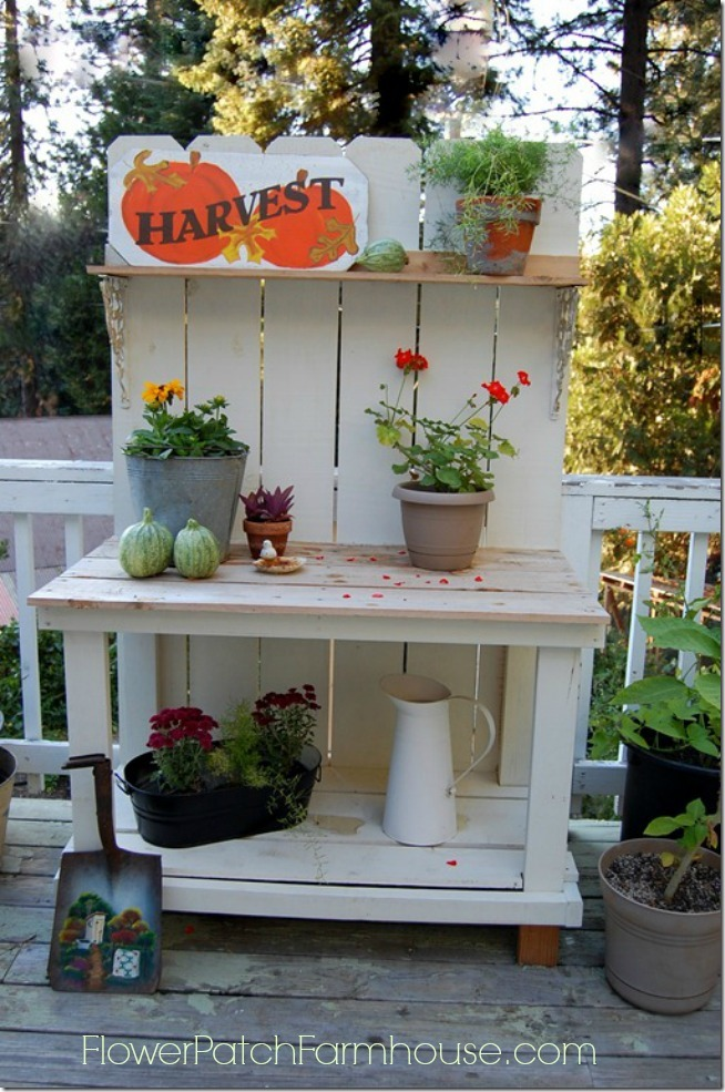 Autumn Potting Bench 2012