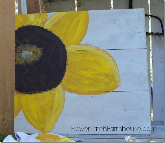 paint a sunflower 20