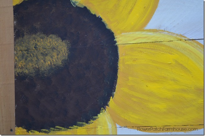 paint a sunflower tutorial 17