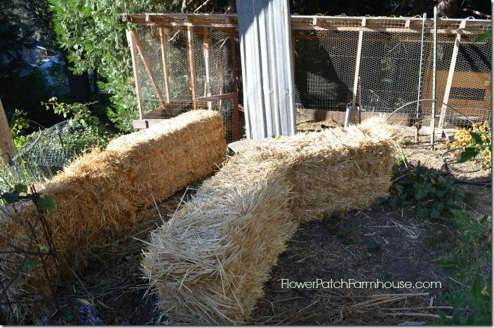 straw bales for garden