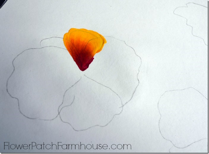 paint a pansy one stroke at a time