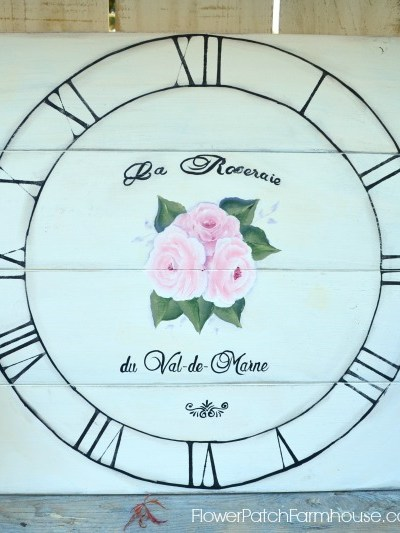 faux vintage clock