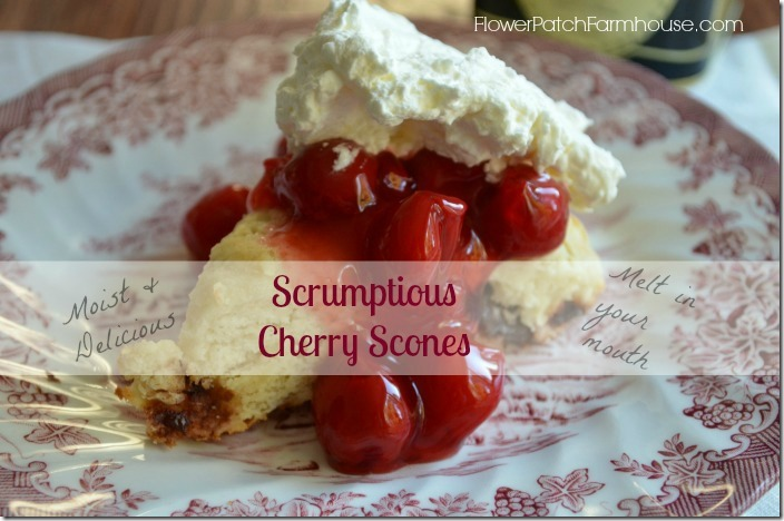 Cherry scones label