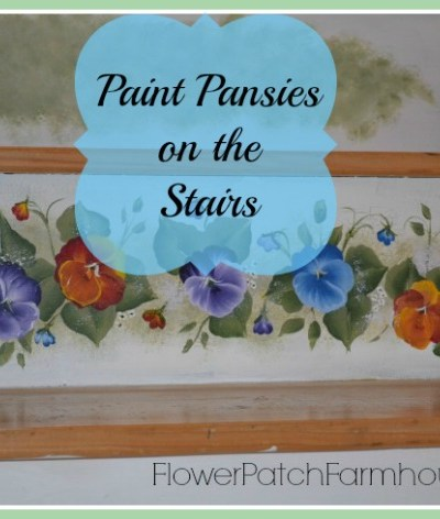 Paint pansy on our stairs
