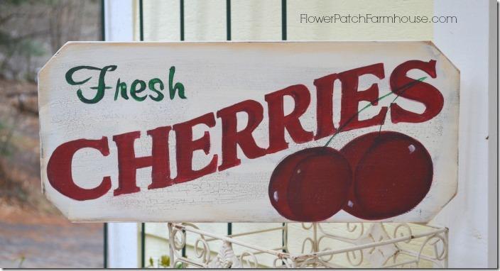 Fresh Cherries sign700
