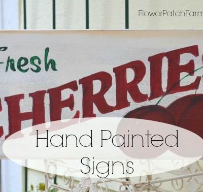 vintage style cherries sign