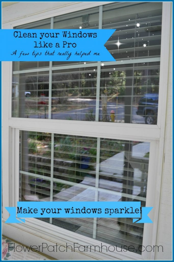 Get your windows sparkling clean in no time. Quick and easy tips anyone can do! FlowerPatchFarmhouse.com