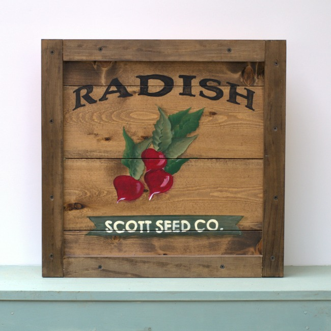 Learn How to Paint a Radish, FlowerPatchFarmhouse.com