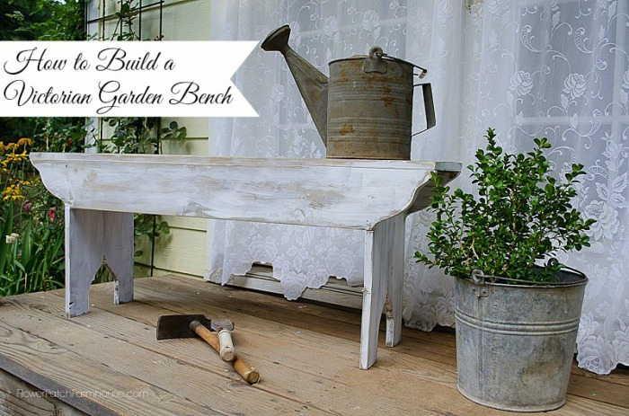 How to Build a Victorian Garden Bench, FlowerPatchFarmhouse.com
