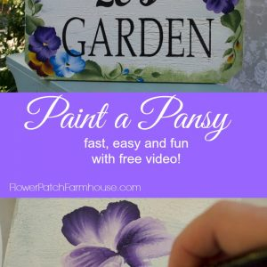 How to Paint a Pansy, FlowerPatchFarmhouse.com
