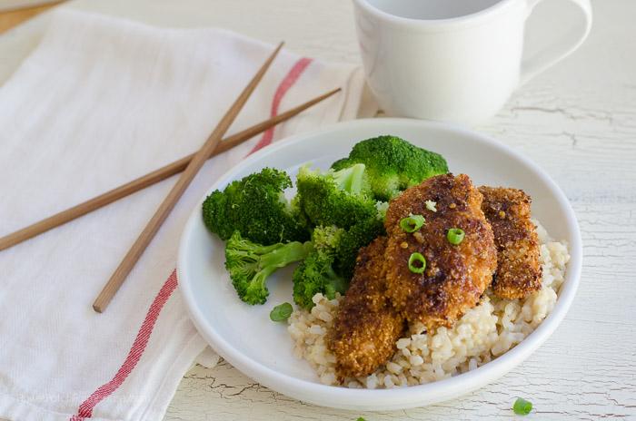 Honey Garlic chicken with Brown Rice, FlowerPatchFarmhouse.com