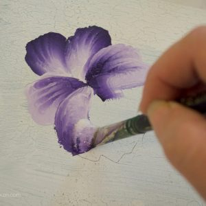 How to Paint a Pansy, one stroke at a time, FlowerPatchFarmhouse.com