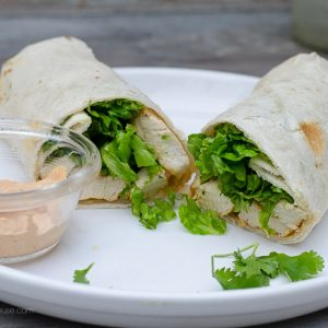 Cilantro Lime Chicken wrap, FlowerPatchFarmhouse.com