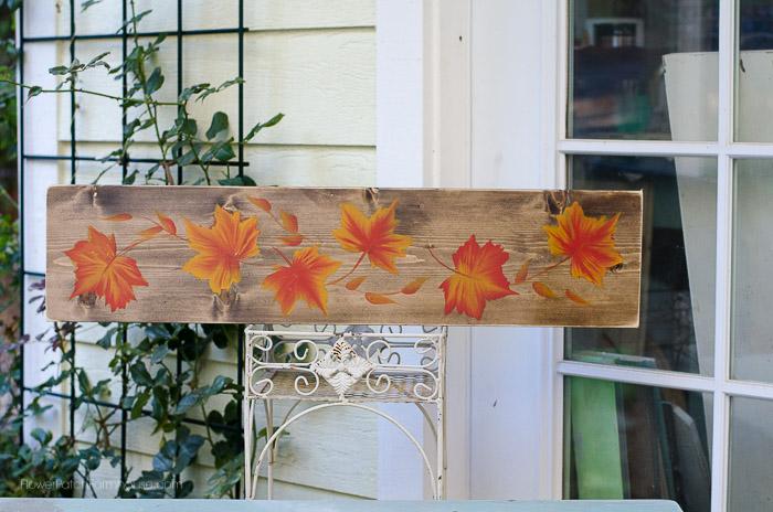 Fall Leaves painting, FlowerPatchFarmhouse.com