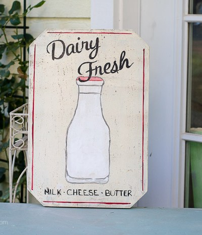 Dairy Fresh Farmhouse sign, FlowerPatchFarmhouse.com