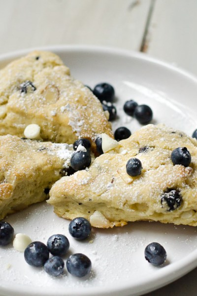 Blueberry White Chocolate Almond Scones, FlowerPatchFarmhouse.com