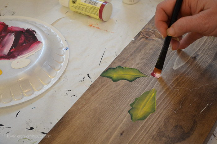 Learn How to Paint Poinsettias, One stroke at a time, FlowerPatchFarmhouse.com