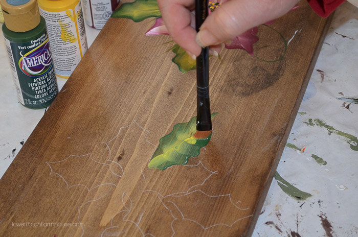 Learn How to Paint Poinsettias, FlowerPatchFarmhouse.com