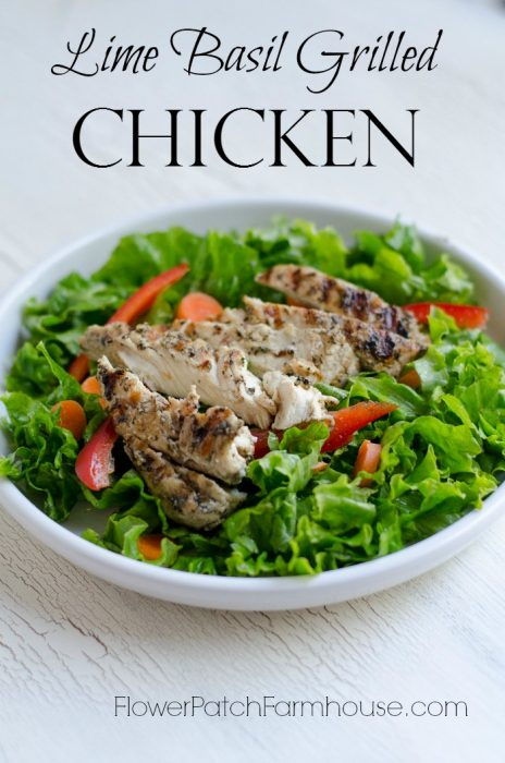 The Best Lime Basil Grilled chicken, as easy as it is flavorful, FlowerPatchFarmhouse.com
