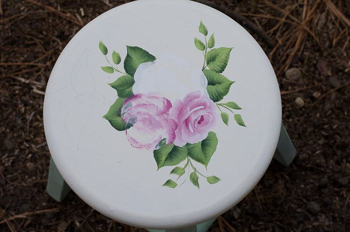 Refreshing Green stool, FlowerPatchFarmhouse.com