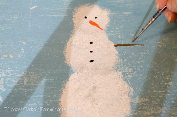 Learn How to Paint a Snowman, FlowerPatchFarmhouse.com