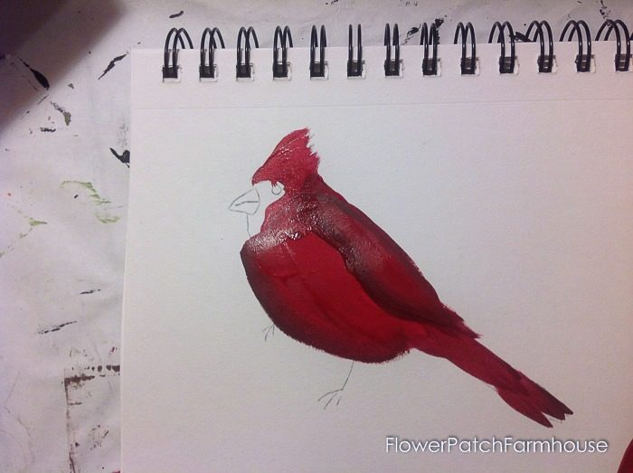 Cardinal painting tutorial, FlowerPatchFarmhouse.com (11 of 15)