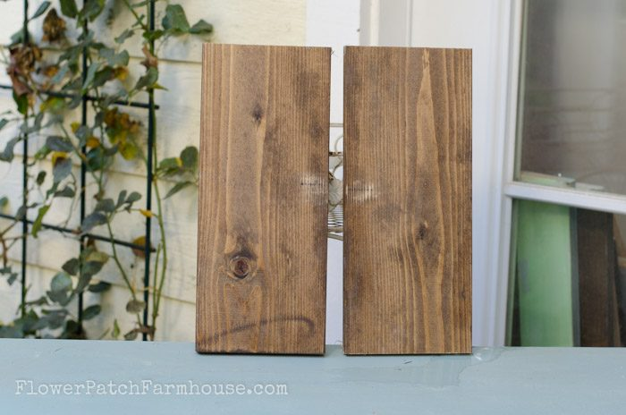 DIY Rustic Finish in 4 easy steps, FlowerPatchFarmhouse.com