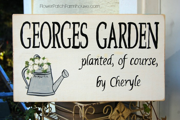 George's Garden custom sign, FlowerPatchFarmhouse.com