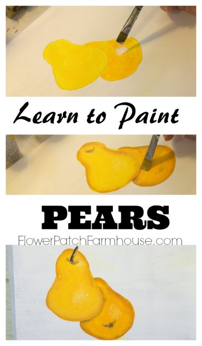 Learn How to Paint a Pear, FlowerPatchFarmhouse.com