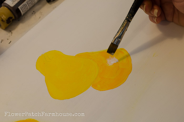 How to Paint a Pear, FlowerPatchFarmhouse.com
