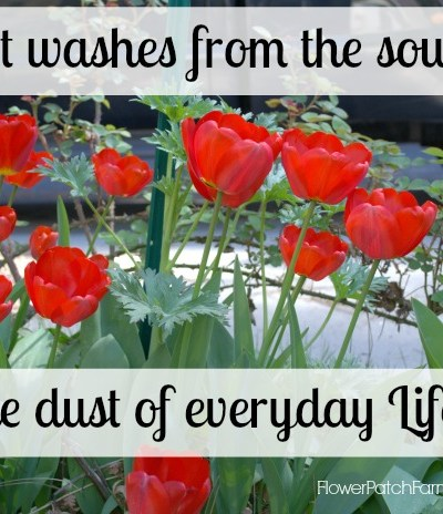 Art Washes the Soul from the dust of everyday life, FlowerPatchFarmhouse.com