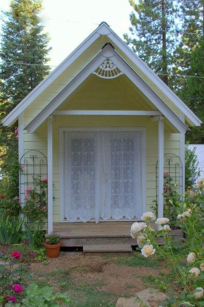 Back yard garden cottage or art studio.  Plans available on website, FlowerPatchFarmhouse.com