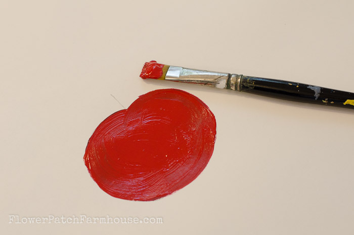 Paint a Tomato, one stroke at a time, FlowerPatchFarmhouse.com