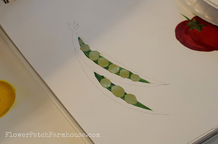 Learn to Paint Peas, FlowerPatchFarmhouse.com
