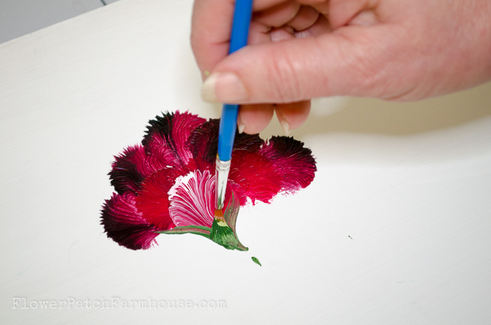 How to Paint a Carnation, FlowerPatchFarmhouse.com (15 of 30)
