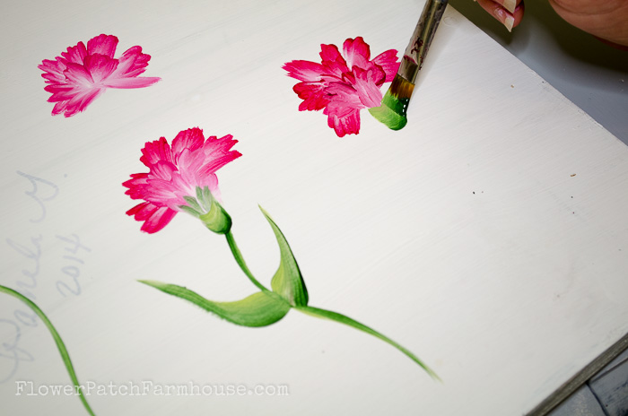 How to Paint a Carnation, FlowerPatchFarmhouse.com (24 of 30)