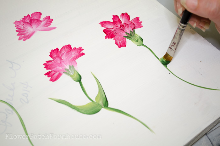 How to Paint a Carnation, FlowerPatchFarmhouse.com (27 of 30)